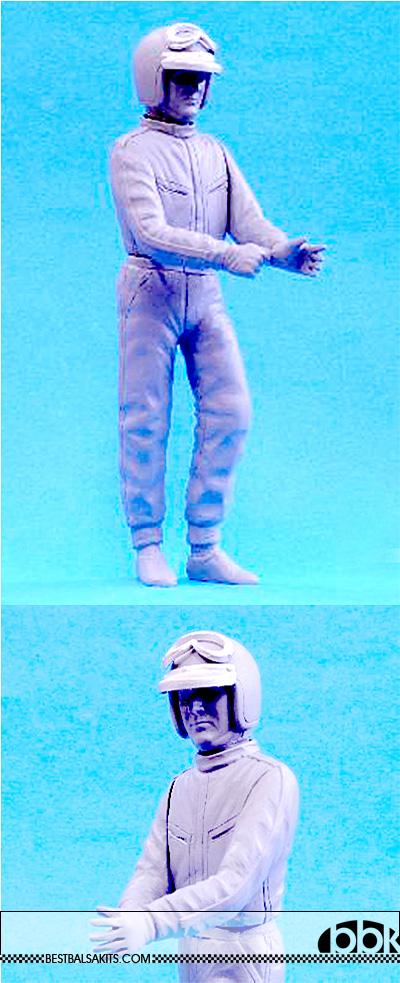 HIRO 1/12 LORENZO BANDINI STANDING FIGURE FERRARI 330P4 312F