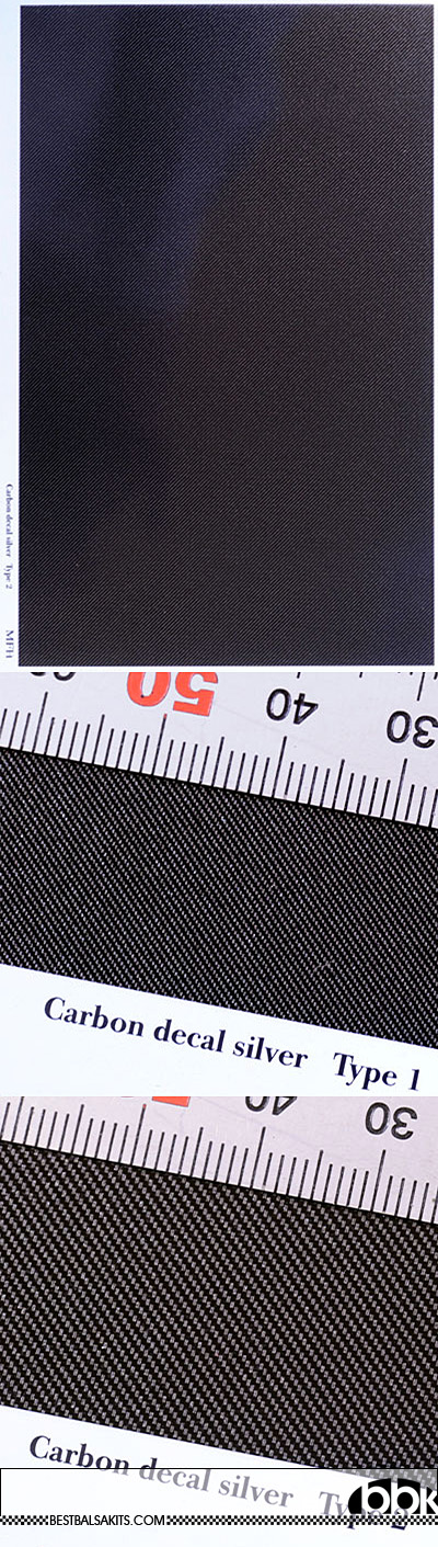 HIRO 1/20-1/24 1/20-24 CARBON SILVER TWILL WEAVE DECAL