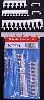 HIRO 1/12 1/12 METAL JOINT SET B A/N FITTINGS 180° & 90°