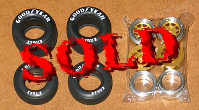 HIRO 1/20 TIRE & METAL RIM F1 EARLY 80