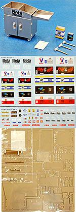 HIRO 1/20 TOOL CABINET #C + TOOLS PE DETAIL