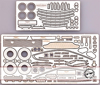 HOBBY-D 1/24 PE DETAIL UP for 1/24 ASTON MARTIN VANTAGE V12 WEL