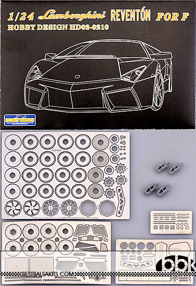 HOBBY-D 1/24 LAMBORGHINI REVENTON PHOTO ETCH DETAIL UP PARTS