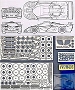 HOBBY-D 1/24 McLAREN F1-GTR LONG TAIL PHOTO ETCH DETAIL UP