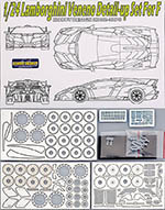 HOBBY-D 1/24 LAMBORGHINI VENENO PHOTO ETCH DETAIL UP PARTS