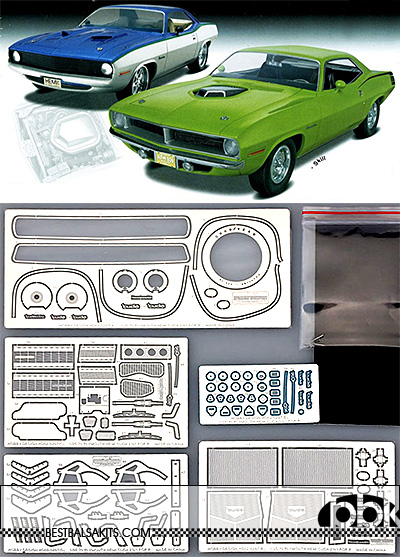 HOBBY-D 1/25 1/25 1970 PLYMOUTH HEMI CUDA 2in1 DETAIL UP REVELL