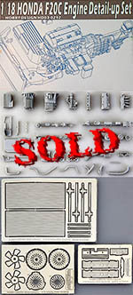 HOBBY-D 1/18 S2000 HONDA F20C ENGINE FULL KIT DETAIL UP for MAI