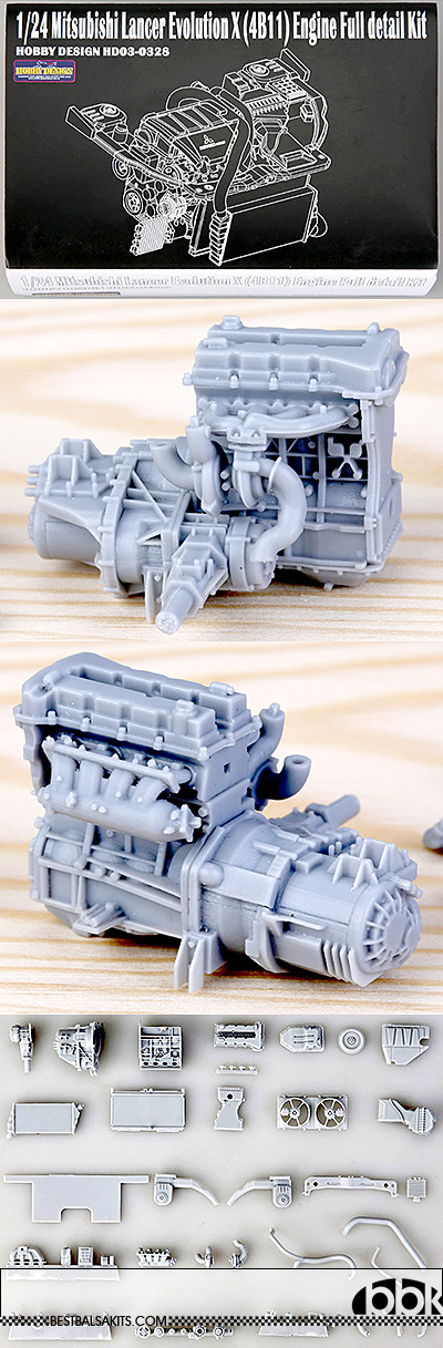 HOBBY-D 1/24 MITSUBISHI LANCER EVOLUTION X (4B11) ENGINE