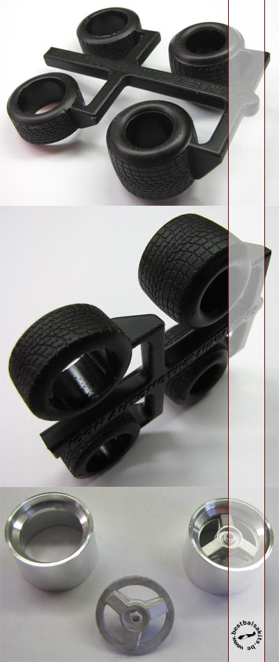 ICON AM 1/20 15'' GY RAIN TIRE DYMAG FRONTS 80s for TAMIYA FW07