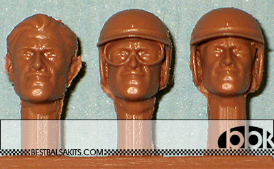 IMMENSE 1/24 GRAHAM HILL 3 DIFF HEADS