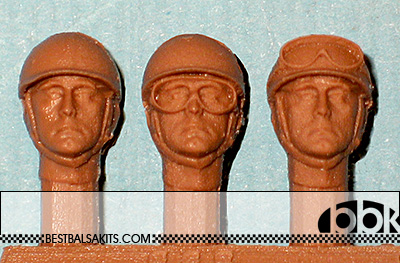IMMENSE 1/24 50's DRIVER REPLACEMENT HEADS 3pc
