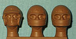 IMMENSE 1/24 60's 70's DRIVER HELMETS w FACES