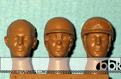 IMMENSE 1/24 STIRLING MOSS HEADS 3pc