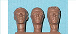 IMMENSE 1/24 TAZIO NUVOLARI HEADS 3pc