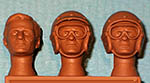 IMMENSE 1/24 BRUCE McLAREN HEADS 3pc
