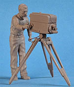 IMMENSE 1/24 RCA CAMERA & OPERATOR FIGURINI
