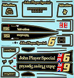 INDECALS 1/12 LOTUS JPS MKIII 78 PETERSON livery, 1978 SEASON