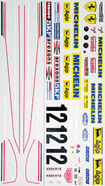 INDECALS 1/12 FERRARI 312T3 VILLENEUVE DECAL for PROTAR