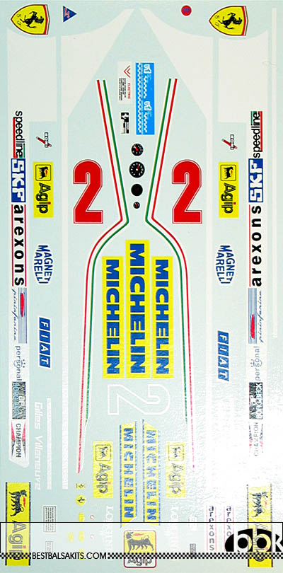INDECALS 1/12 FERRARI 312T5 VILLENEUVE DECAL for PROTAR 1/12