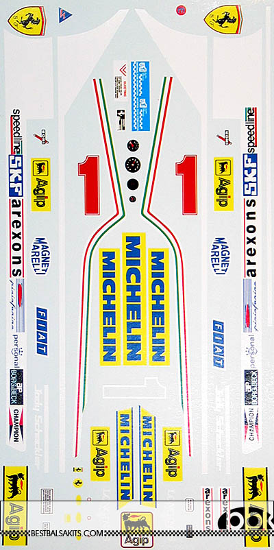 INDECALS 1/12 FERRARI 312T5 SCHECKTER DECAL for PROTAR 1/12