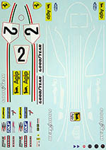 INDECALS 1/12 FERRARI 312T2 CLAY REGAZZONI for PROTAR