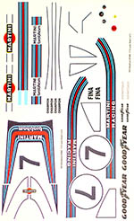 INDECALS 1/12 BRABHAM BT44B REUTEMANN REPLACEMENT DECAL TAMIYA