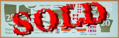 INDECALS 1/20 WOLF WR1 FORD SCHECKTER