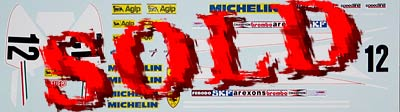 INDECALS 1/20 VILLENEUVE DECAL for TAMIYA 1/20 FERRARI 312T3