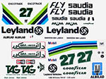 INDECALS 1/20 WILLIAMS FW07 1980 JONES DECAL for TAMIYA