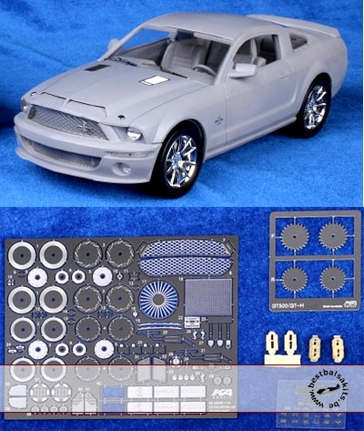 KA-FMD 1/24 PE DETAIL UP for REVELL 1/24 MUSTANG GT500