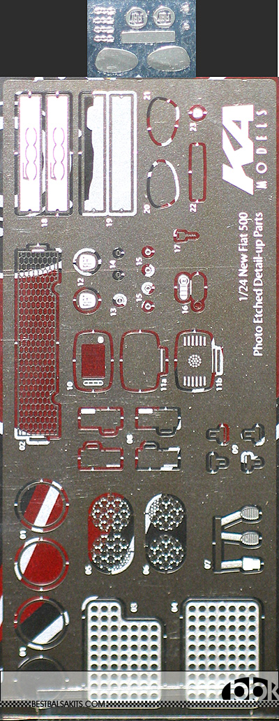 KA-FMD 1/24 1/24 FIAT 500 PE DETAIL UP for FUJIMI