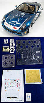 KA-FMD 1/24 TRANSKIT FERRARI 599 GTB FIORANO PANAMERICAN BLUE