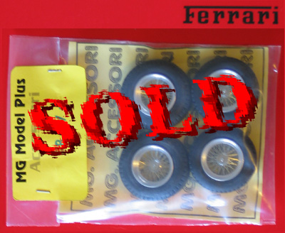 BERLINETTA<br>MG MODEL 1/24 SPOKED RIMS AND TIRES (FERRARI GT0 1962/1964)