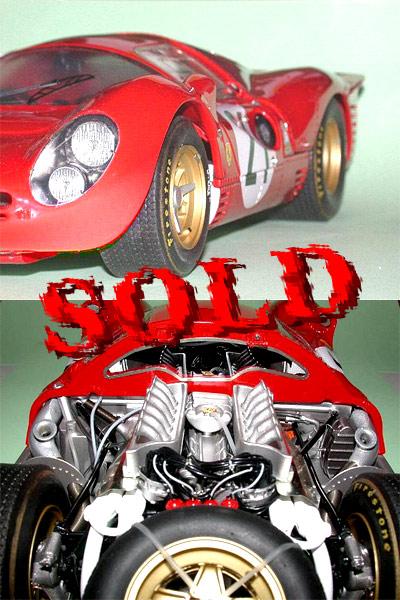 BERLINETTA<br>MG MODEL 1/12 #21 Ferrari 330 P4 Coupé 24 Heures du Mans 1967