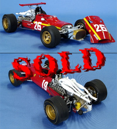 BERLINETTA<br>MG MODEL 1/12 Ferrari 312 F.1 1968 French GP #26 J.Ickx