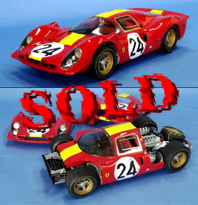 BERLINETTA<br>MG MODEL 1/12 #24 Ferrari 330 P4 Coupé 24 Heures du Mans 1967