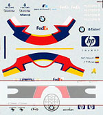 MSM 1/20 2002 F1 season decal R. Schumacher / P. Montoya