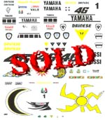 MSM 1/12 ROSSI DECAL for HELMET & SUIT US MOTO GP 2005