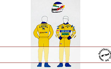 MSM 1/20 BENETTON 1993 DECAL SCHUMACHER FIGURE TAMIYA