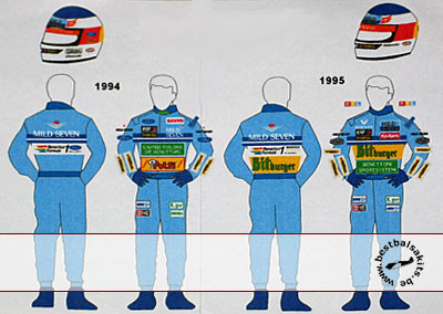 MSM 1/20 BENETTON '94 '95 DECAL SCHUMACHER FIGURE TAMIYA