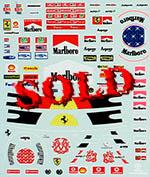 MSM 1/24 1996-2006 Schumacher Ferrari decal Tamiya Modelers