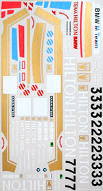 MSM 1/24 MACAU 87 88 DECAL for FUJIMI REVELL BMW E30 M3