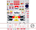 MSM 1/20 FERRARI '96 '06 DECAL SCHUMACHER FIGURE TAMIYA