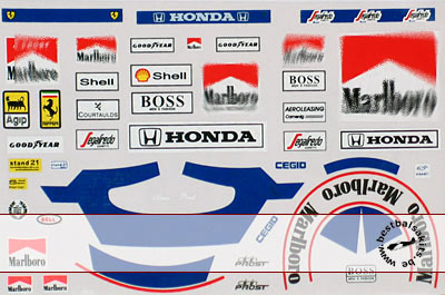 MSM 1/12 PROST McLAREN + FERRARI DECAL for HELMET & SUIT