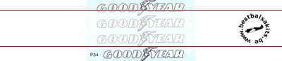 MSM 1/12 GOODYEAR TIRE LOGO for TAMIYA 1/12 P34 SIX WHEELER