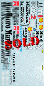 MSM 1/12 1/12 FULL DECAL for TAMIYA McLAREN MP4/6 SENNA