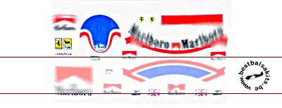 MSM 1/20 DECAL HELMET FIGURE MANSELL FUJIMI FERRARI 641/2