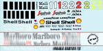 MSM 1/24 FULL SPONSOR DECAL McLAREN MP4/2C PROTAR BBURAGO