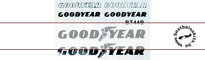 MSM 1/12 GOODYEAR TIRE LOGO for TAMIYA 1/12 BRABHAM BT44B