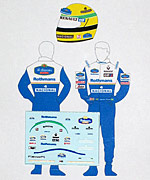MSM 1/43 1/43 DECAL HELMET & FIGURE SENNA TEAM WILLIAMS